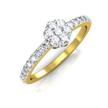 Avsar Real Gold & Swarovski Stone Parineeti Ring_I053yb