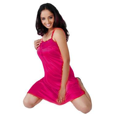 Ishin Satin 1 Piece Nightwear (Red) - SULDR 1405 A