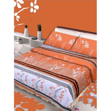 IWS Set of 3 100% Cotton Double Bedsheet with 6 Pillow Cover-IWS-CB-643