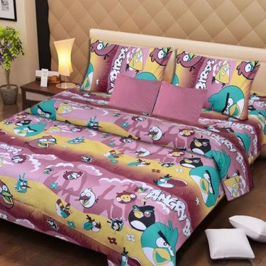 IWS Set of 2 Designer Cotton kids Double Bedsheet with 4 Pillow cover IWS-CCB-39