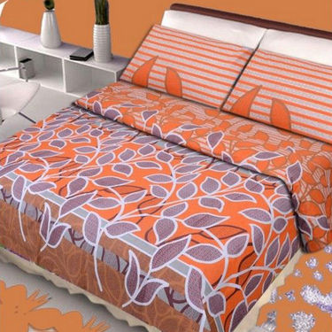 Set of 4 Vastu Designer 100% Cotton Double Bedsheets