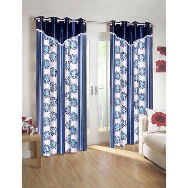 10 Piece Home Decor Combo (IWS 2 Bedsheet with 4 Pillow Covers + 2 Door Curtains + 2 Mats) -IWS-JC-10