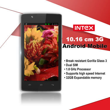 Intex 10.16 cm 3G Android Mobile