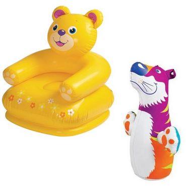 Intex Combo Teddy Chair And Hit Me Bog Bag