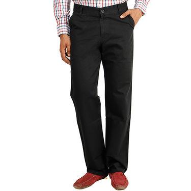 Cotton Regular Fit Chinos_J104 - Black