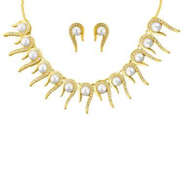 Jpearls Dazzling Fashion PearlNecklace Set - JPJUN-14-312