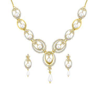 Jpearls Shryln Pearl Fashion Pearl Necklace Set - NEB10695