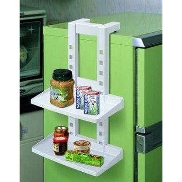 Kawachi Three Layer Adjustable Refrigerator Shelf Storage Bottle Rack