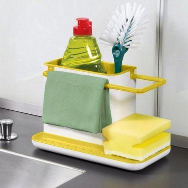 Kawachi 3 in 1 Bathroom Sink Organizer-Yellow