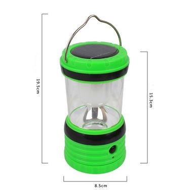 Kawachi Portable LED White Light Solar AC Powered Rechargeable Camping Lamp Lantern-K281