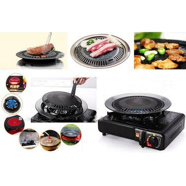 Kawachi Smoke Free BBQ Barbecue Grill Plate for Roast-K283