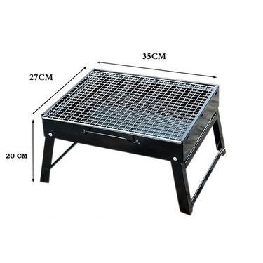 Kawachi Foldable Outdoor Camping Charcoal Barbecue Grill-K34