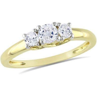 Kiara Swarovski Signity Sterling Silver Kinjal Ring_Kir0731 - Golden