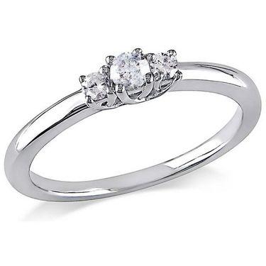 Kiara Swarovski Signity Sterling Silver Kinjal Ring_Kir0789 - Silver