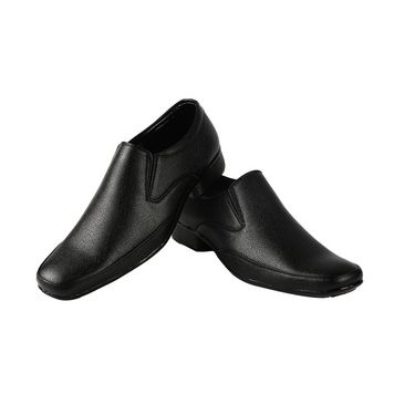 Bacca bucci Faux Leather  Formal Shoes KP-32 - Black