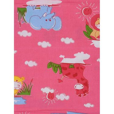 Storyathome 100% Cotton Kids Single Bedsheet with 1 Pillow Cover-KZ1402