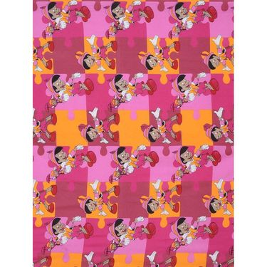 Storyathome 100% Cotton Kids Single Bedsheet with 1 Pillow Cover-KZ1408