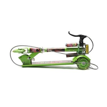 Kids Foldable Bell and Brakes Scooter - Green