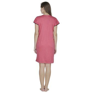 Klamotten Cotton Plain Nighty - Orange - X130_Peach