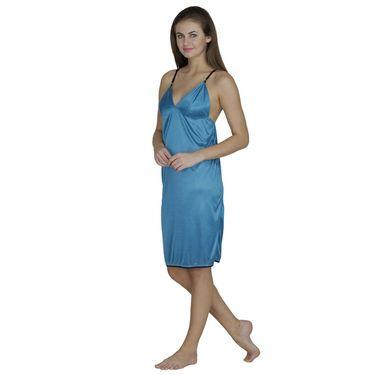 Klamotten Satin Plain Nightwear - Turquoise - X61_Trq