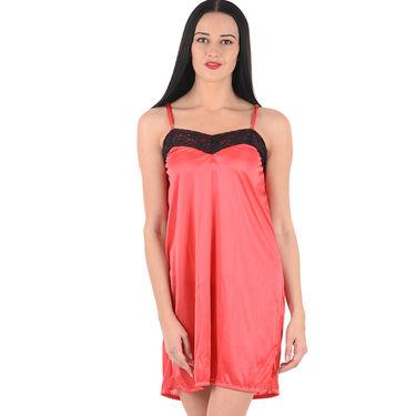 Klamotten Satin Plain Nightwear - Red - YY127