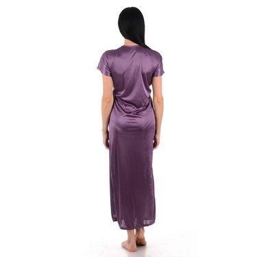 Klamotten Satin Plain Robe - Purple - YY128
