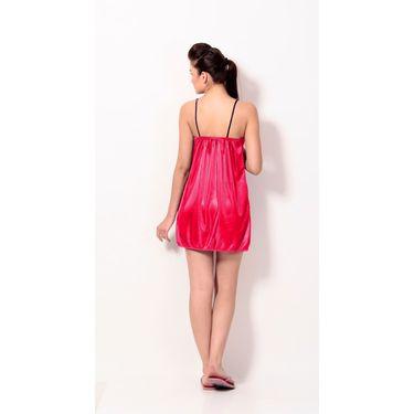 Klamotten Satin Plain Nightwear - Red - YY26