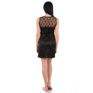 Klamotten Satin Plain Nightwear - Black - YY39