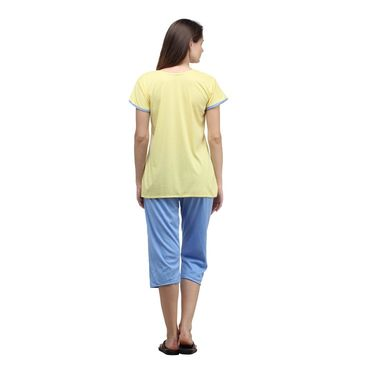 Klamotten Cotton Plain Nightwear - Yellow - YY73