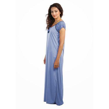 Klamotten Cotton Plain Nightwear - Blue - YY83