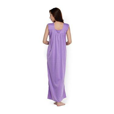Klamotten Cotton Plain Nightwear - Purple - YY86