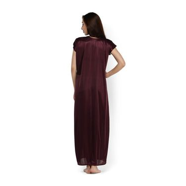 Klamotten Satin Plain Nightwear - Purple - YY90