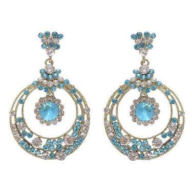 Kriaa Austrian Stone Earrings - Blue _ 1301203