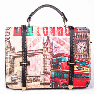 Arisha Leather  Handbags LB91 -Black