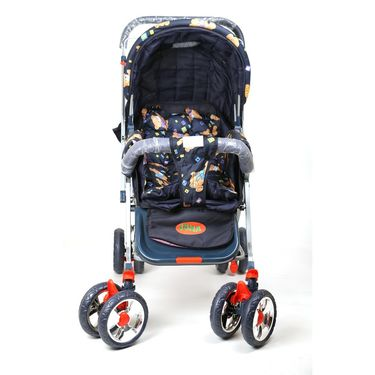 Pram Comfort Cushioned Crome Wheel Assorted Colour