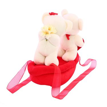AppleCouple Boat Valentine Stuff Teddy White
