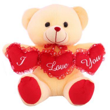 TriHeart Ruby Bear ILU Valentine Stuff Teddy - Cream