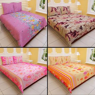 Luxury Queen Glamorous 4 Double Bedsheets (4BS2)