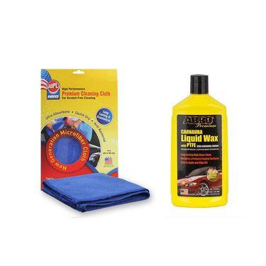 Car Wax- Liquid Lw-900 (473 Ml)+microfiber Cloth