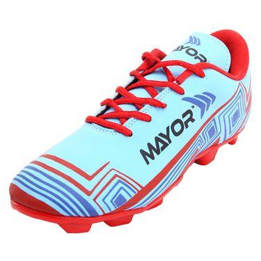 Mayor Sky Blue - Red Casilla Football Studs - 5