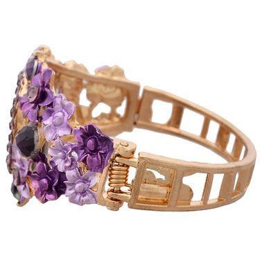 Branded Round Dial Bracelet Diamond Wrist Watch_Mgw03 - White