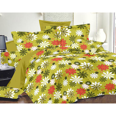 Valtellina Double Bed Sheet with 2 Pillow Cover-MO-270