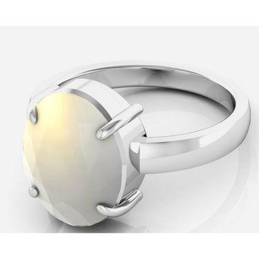Kiara Jewellery Certified Moonstone 3.0 cts & 3.25 Ratti Moonstone Ring_Mosrw
