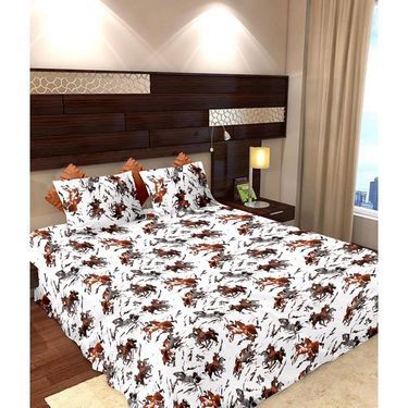 Storyathome Cotton 2 Double Bedsheet With 4 Pillow Cover-MP_1208-1206