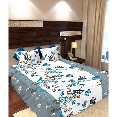 Storyathome Cotton 2 Double Bedsheet With 4 Pillow Cover-MP_1212-1211