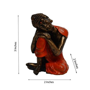 eCraftIndia Polyresin Resting Buddha on Knee-MSGB509
