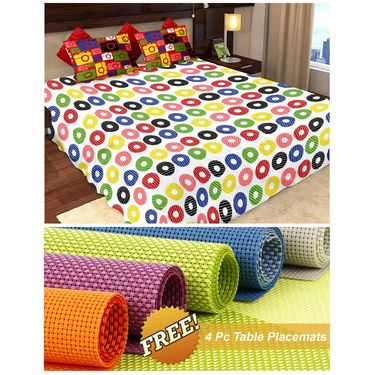 Storyathome Red Dots 1 Double Bedsheet With 2 Pillow Cover -MT1240_TT