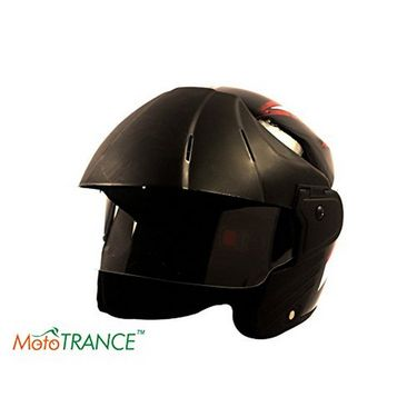 Mototrance Stylish Trace Helmet With Multi Graphics (Black)