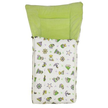 Wonderkids Green Boat Print Baby Carry Nest