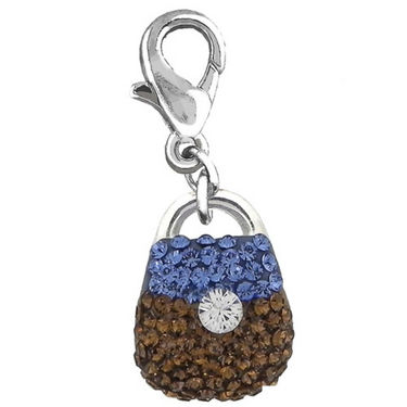 Mahi Key & Chain - Silver & Blue & Brown